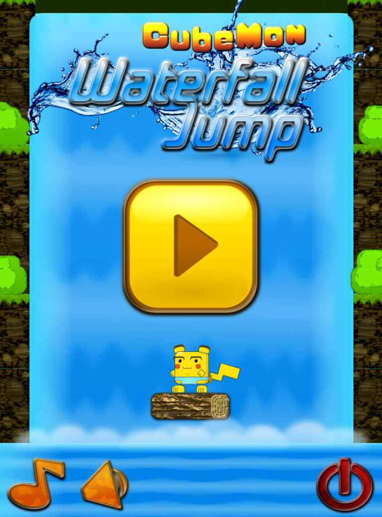 cubemon waterfall jump